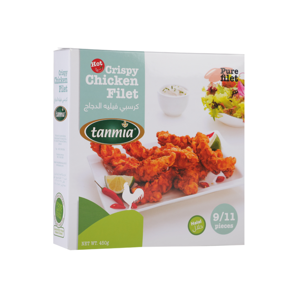 from Tanmia Kitchen Spicy Crispy Chicken filet in packaging