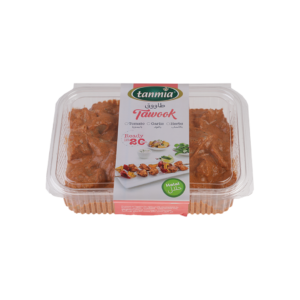 from Tanmia Kitchen Ready to Cook Marinated Taouk with Tomato in packaging